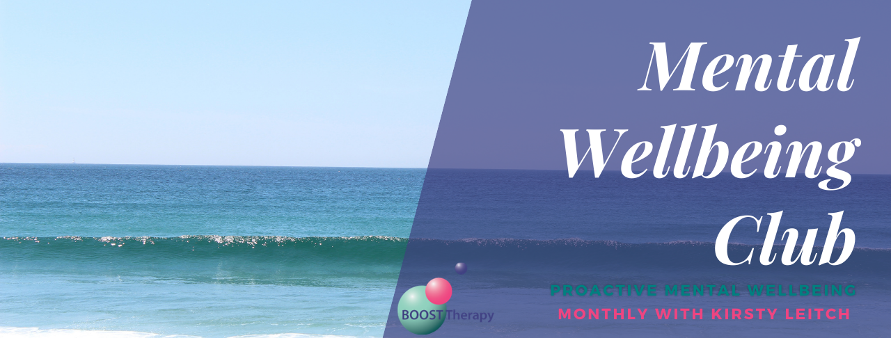 Mental Wellbeing Club,Boost Therapy, picture of ocean