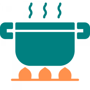 a metaphorical steaming pot - your mental wellbeing is like a pot on heat. life is the pressure building up insider. good mental wellbeing is a way of letting the steam out